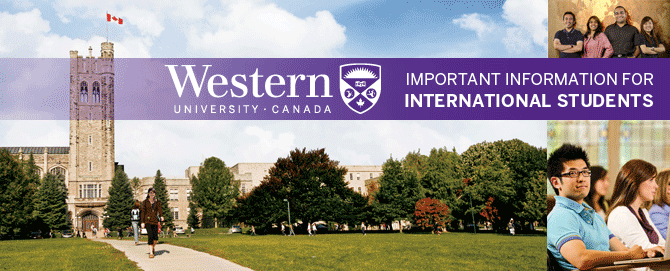 International students at Western